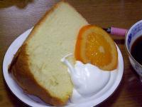 今回のプレーンシフォンケーキ
